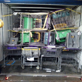 carts in truck 2
